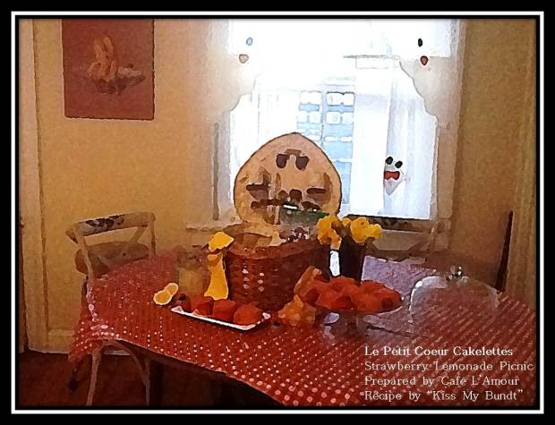 03-22-2015 Le Petit Coeur Cakelettes - Strawberry Lemonade Picnic - Picnic Table