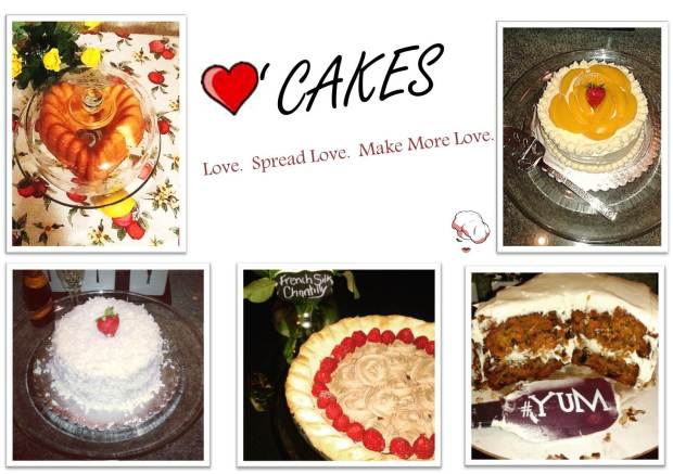 Love Cakes - Collage