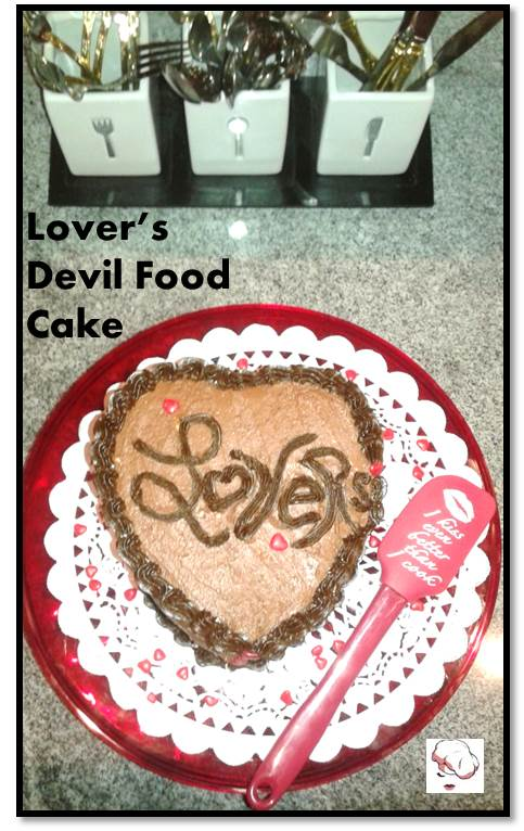 06-07-2015 Lovers Devils Food Cake - with spatula