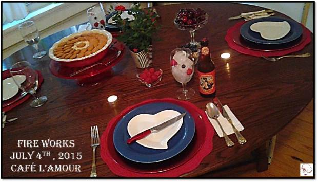 07-04-2015 Fire Works - Tablesetting